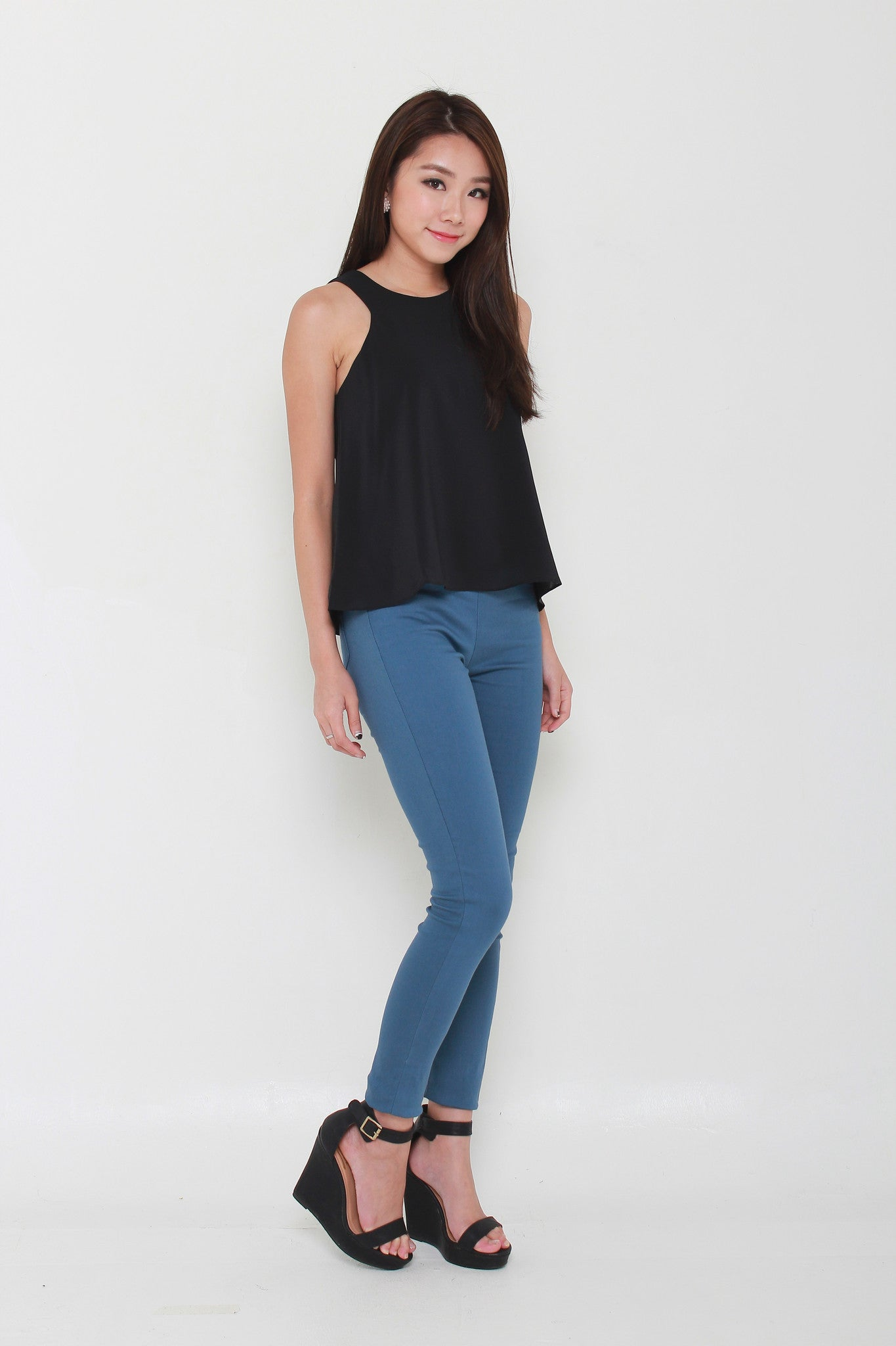 Trapeze Cut In Top in Black
