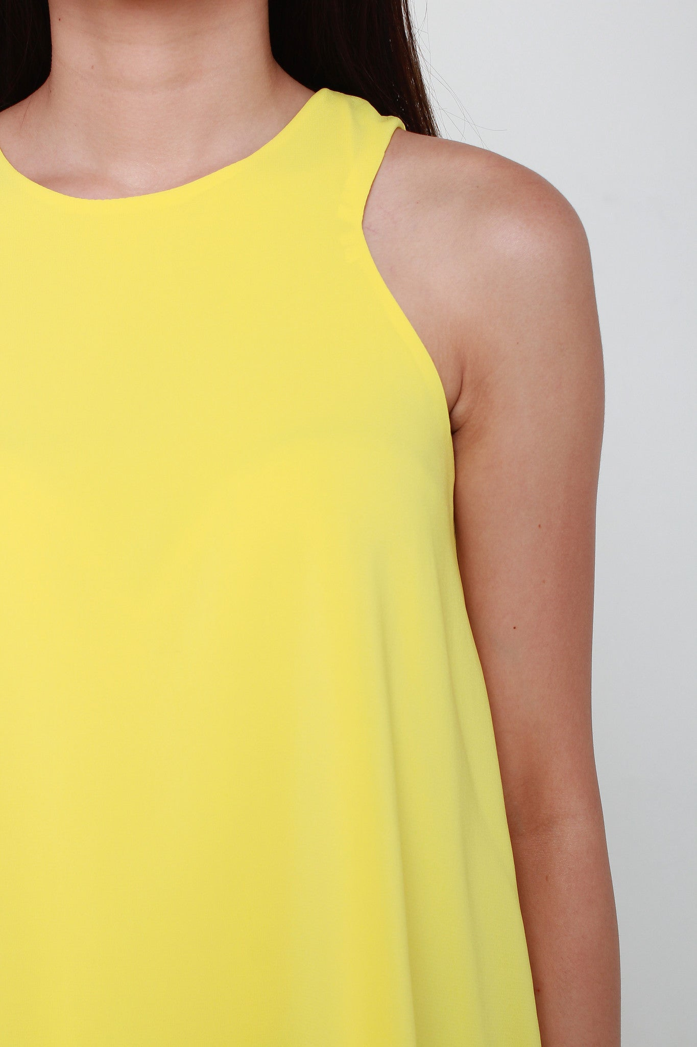 Trapeze Cut In Top in Yellow