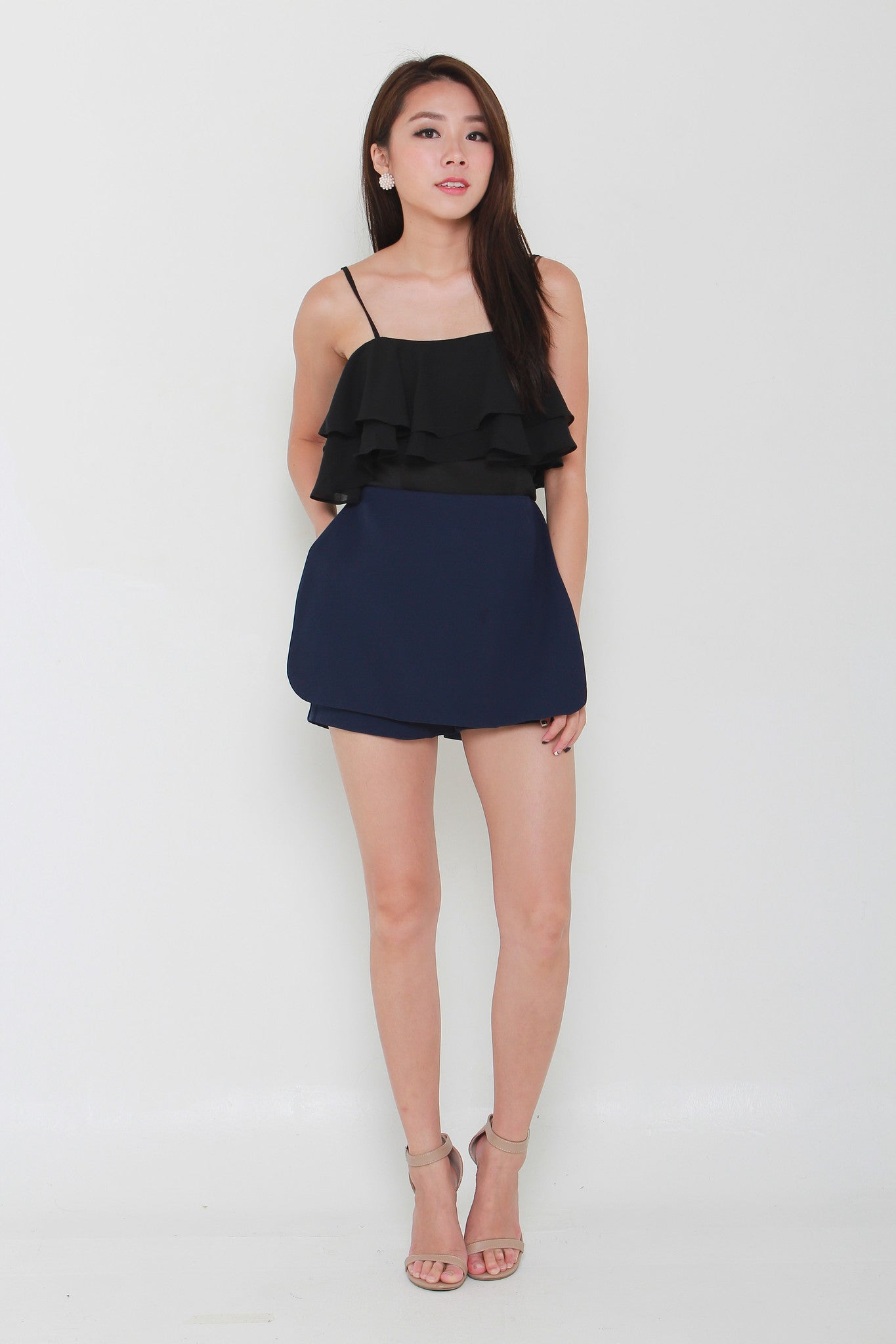 Lexie Tailored Skorts in Navy Blue