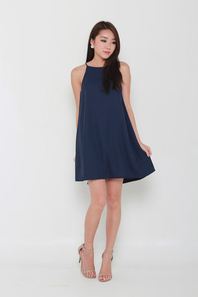 Avalon Trapeze Dress in Navy