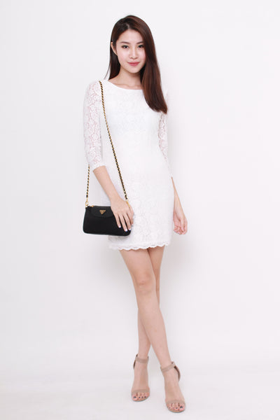 *NASSA* Taylor Lace Dress in White
