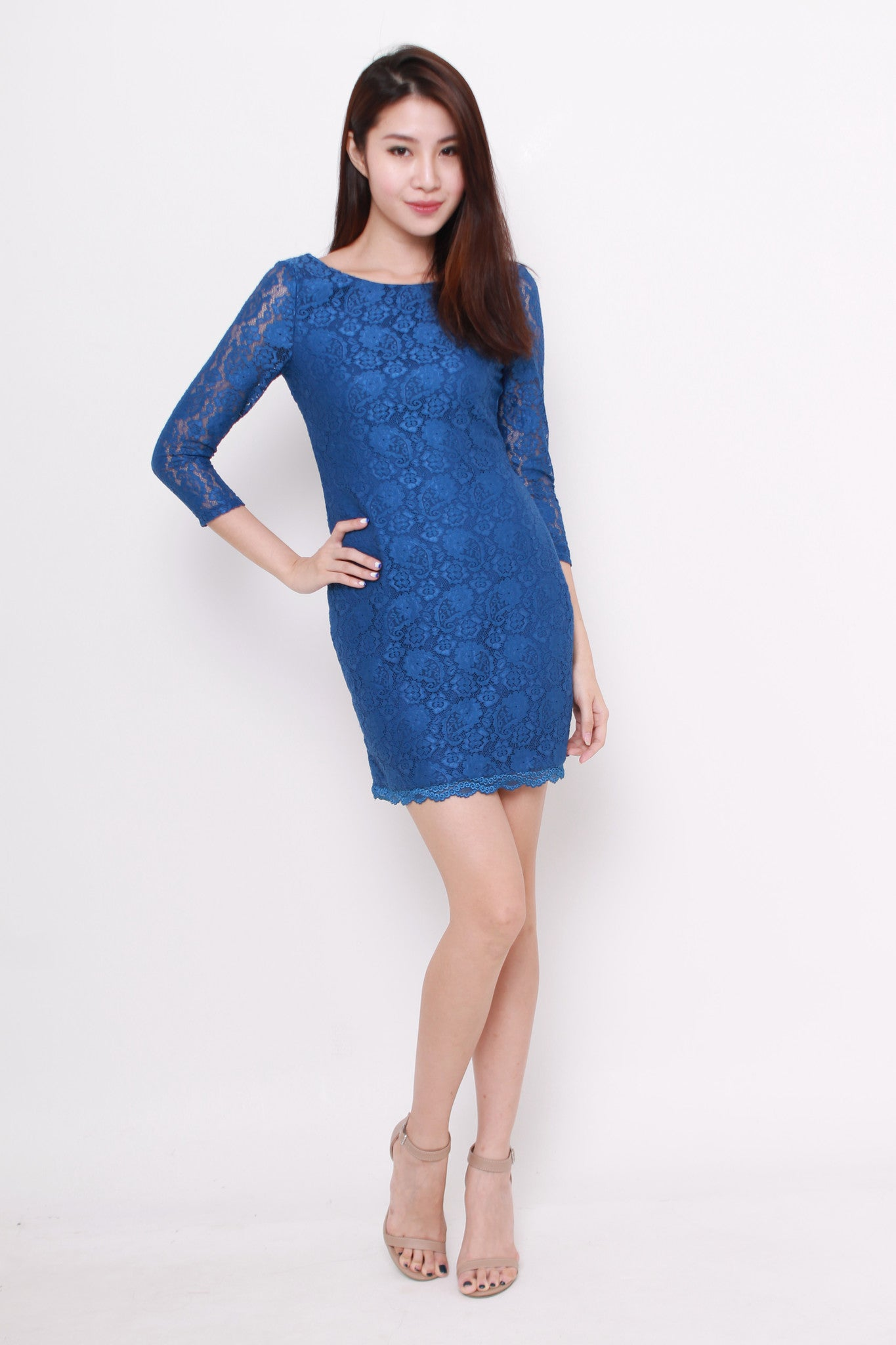 *NASSA* Taylor Lace Dress in Blue