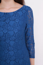 Load image into Gallery viewer, *NASSA* Taylor Lace Dress in Blue