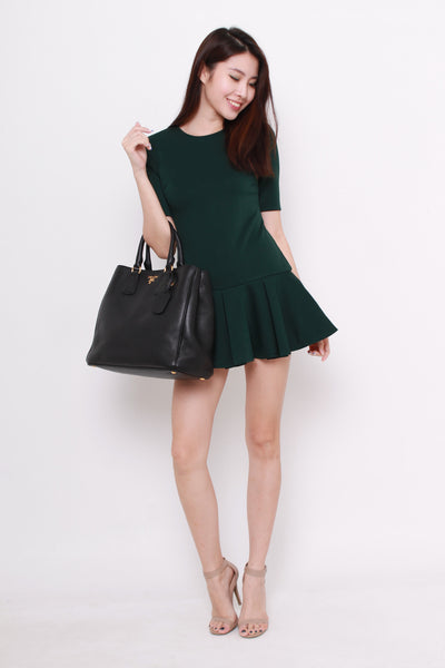 Oasis Trumpet Romper in Green