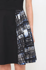 Load image into Gallery viewer, Bernice Graffiti-Side Pleat Dress in Black
