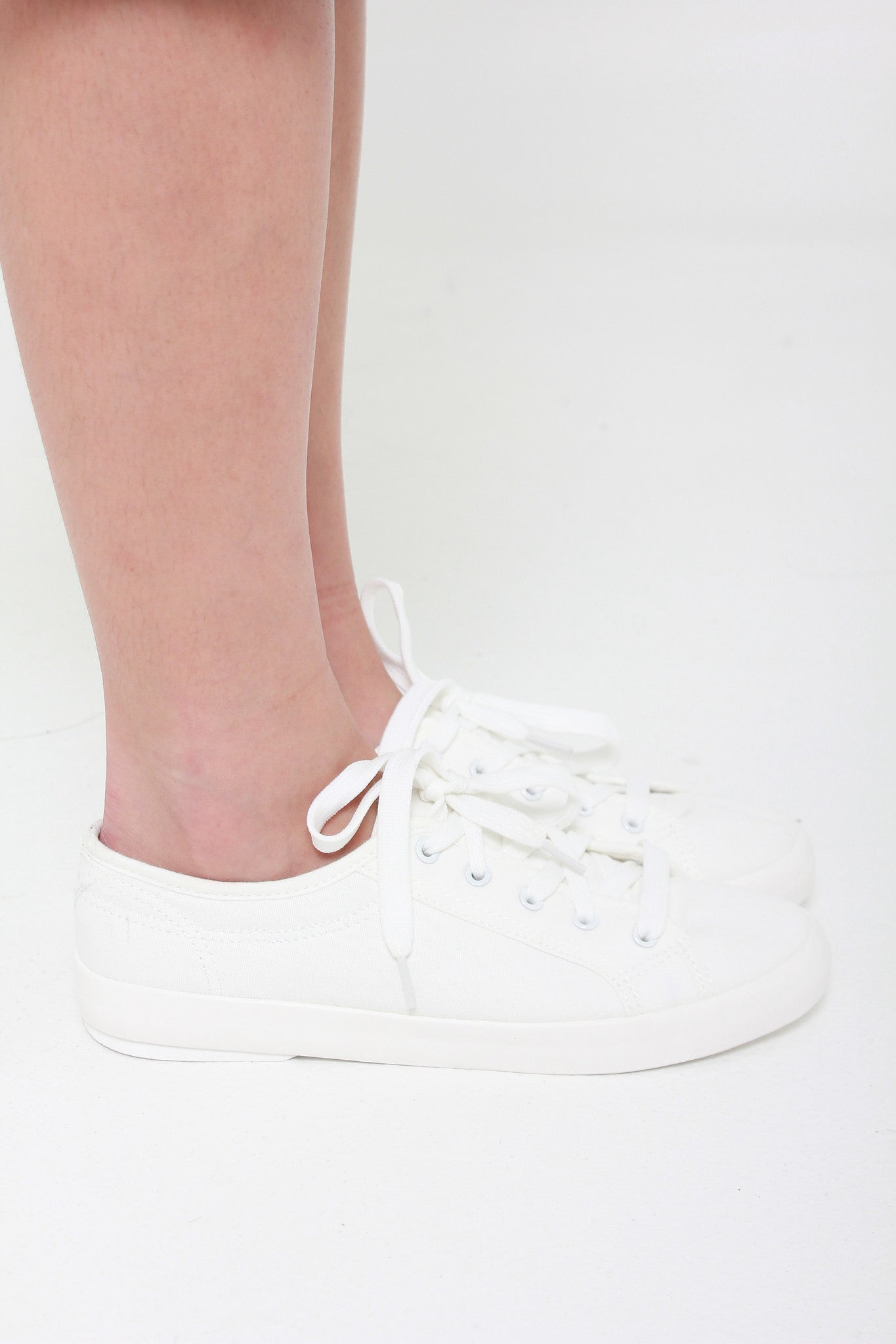 Causal Canvas Sneakers in White (PRE-ORDER)