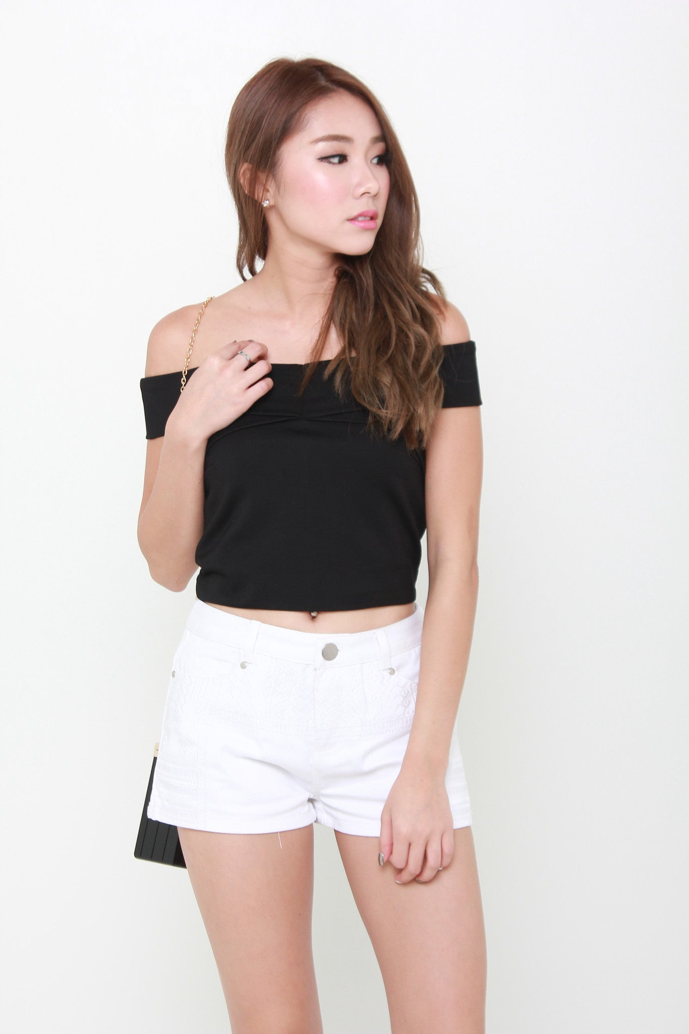 Aura Off Shoulder Top in Black
