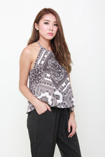 Load image into Gallery viewer, Dora Baroque Flare Top in White
