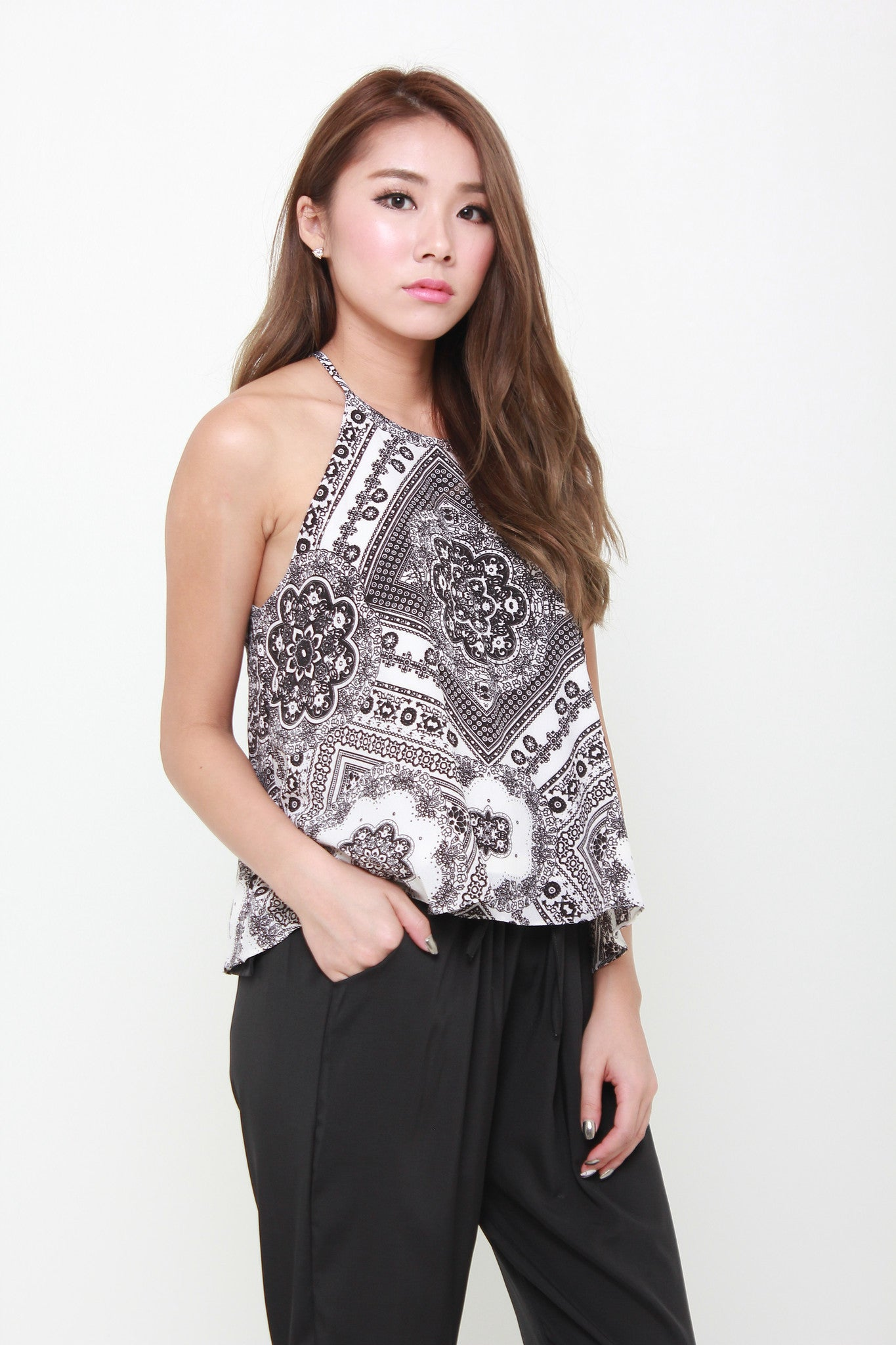Dora Baroque Flare Top in White