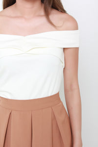 Aura Off Shoulder Top in White