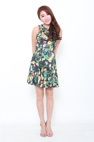 Allie Oriental Floral Dress