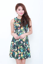 Load image into Gallery viewer, Allie Oriental Floral Dress