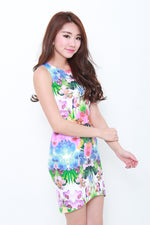 Load image into Gallery viewer, Chrystal Tropical Bodycon Dress