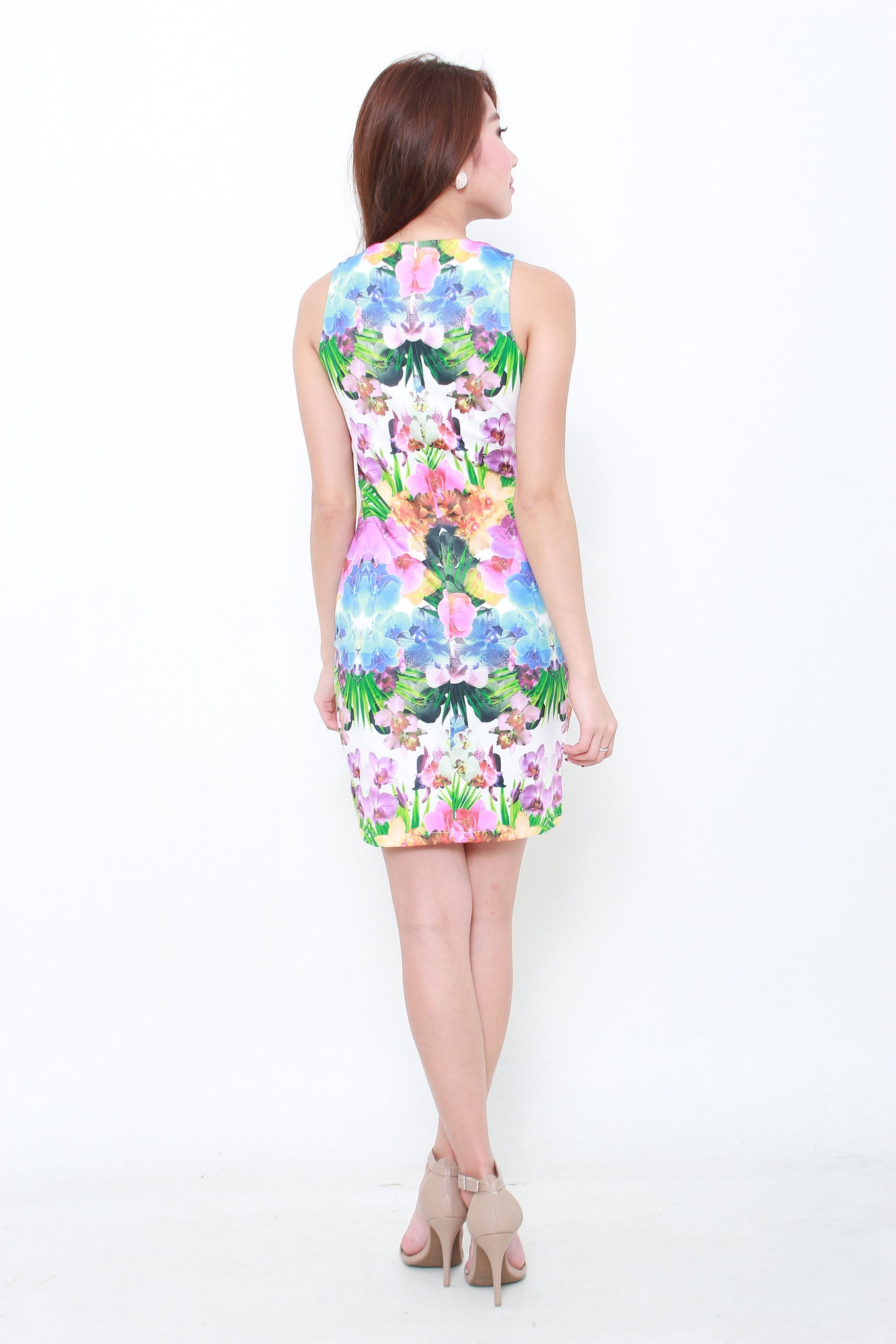 Chrystal Tropical Bodycon Dress