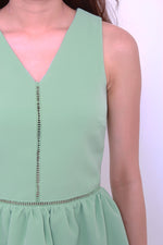 Load image into Gallery viewer, Estee Lattice Insert Dress in Green