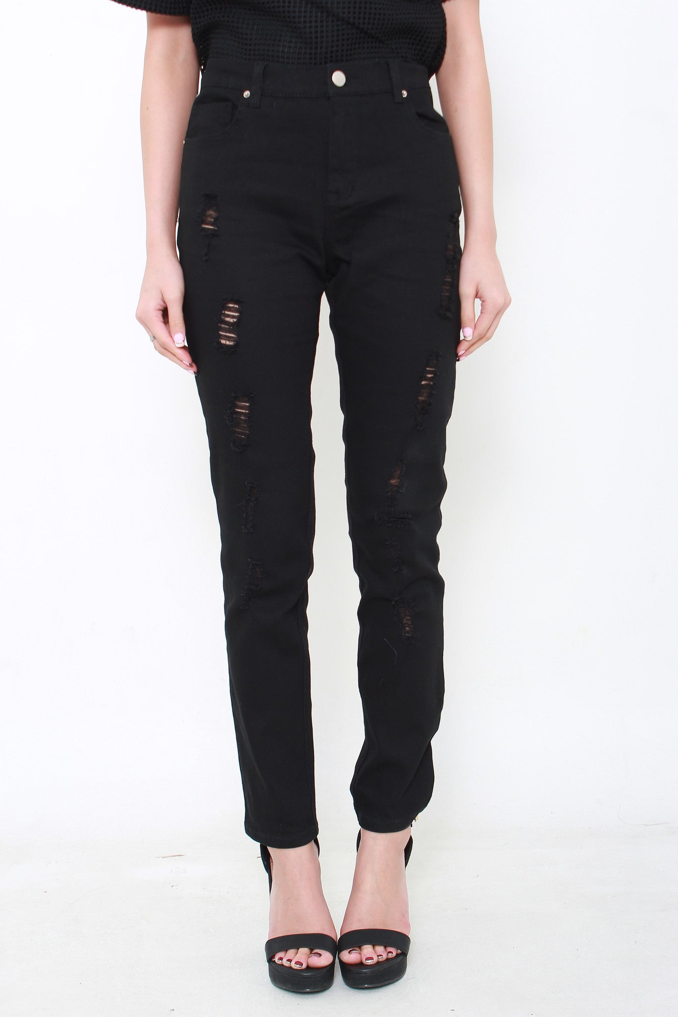 Rip It Up Jeans in Black