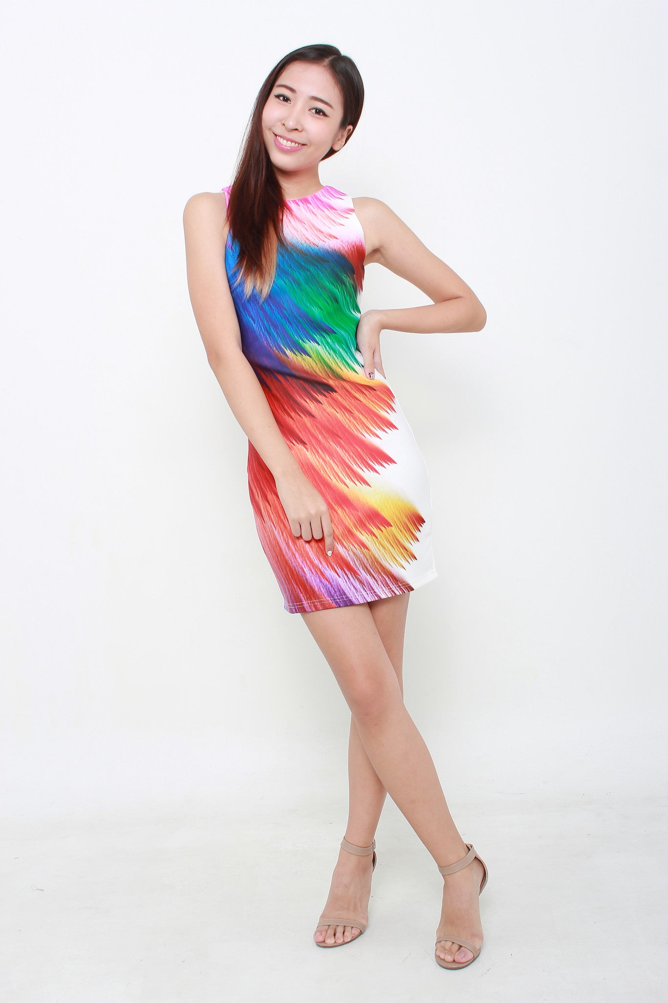 Lailie Feather Bodycon Dress