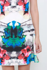 Load image into Gallery viewer, Maddy Symmetrical Graphic Skater Dress