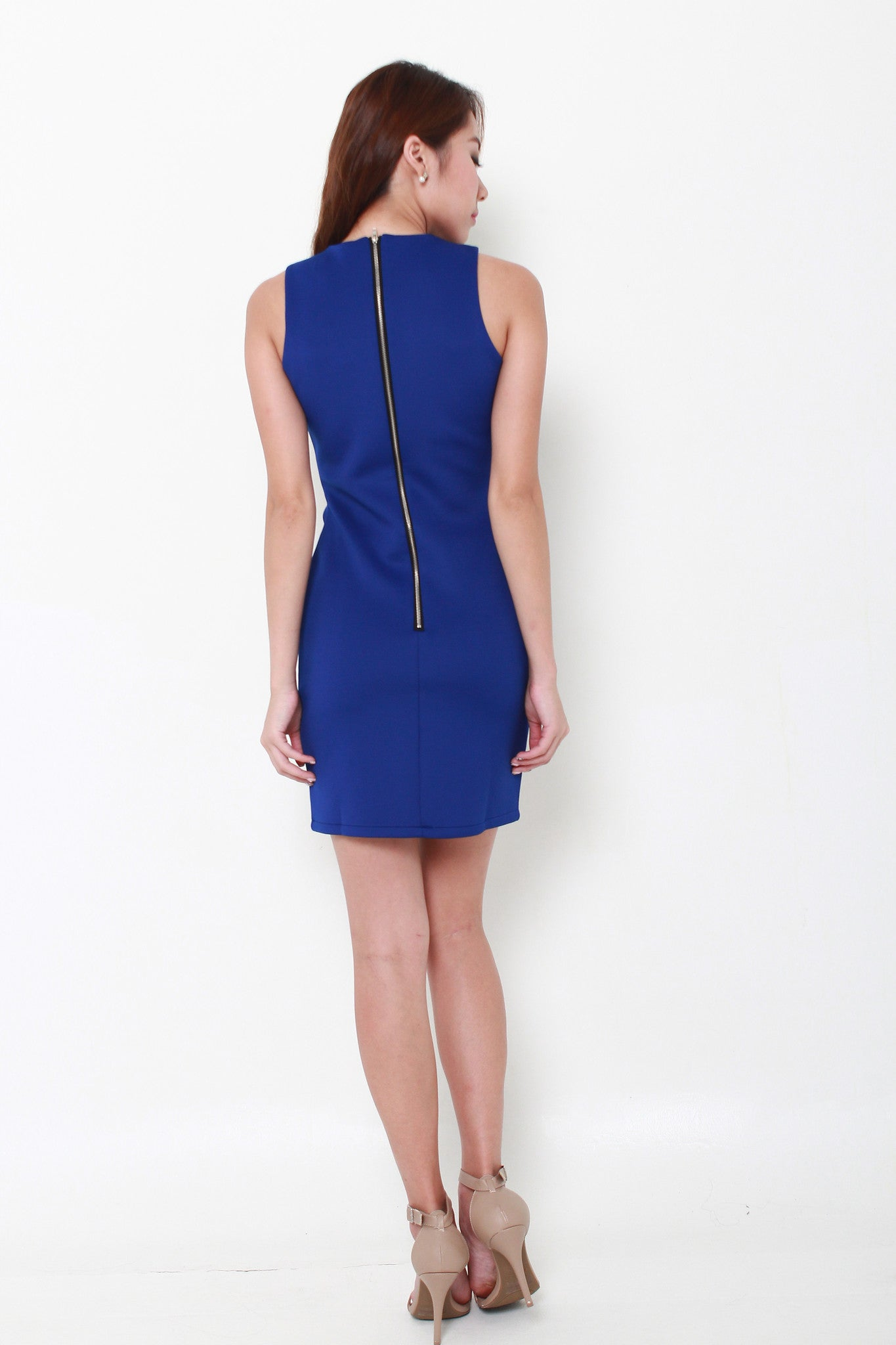 Arwen Cut Out Layer Dress in Blue