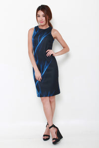 Electra Bodycon Dress in Blue