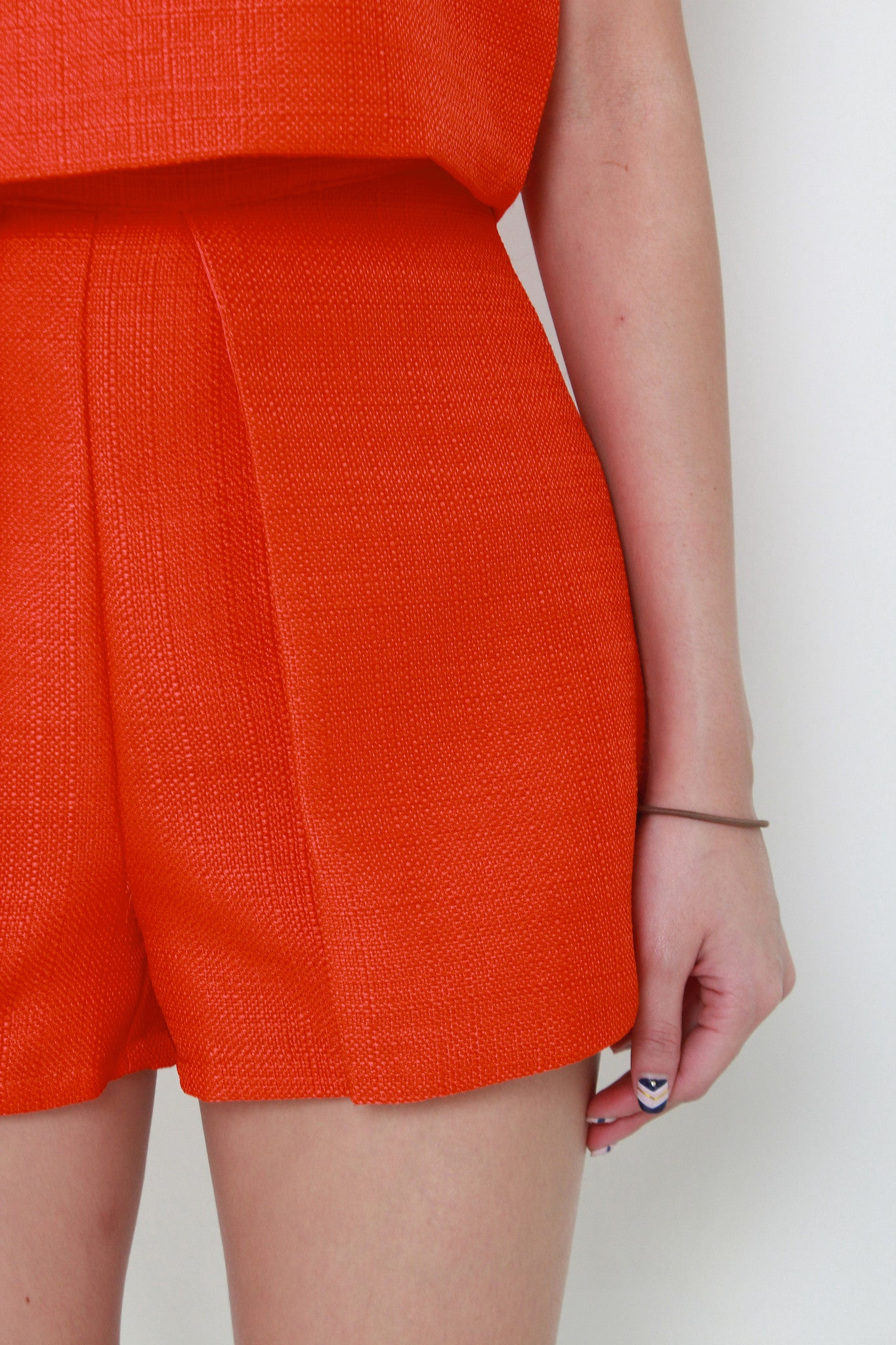 Sonia Tweed Layer Skorts in Orange