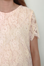 Load image into Gallery viewer, Angelia Scallop Lace Top in Pink