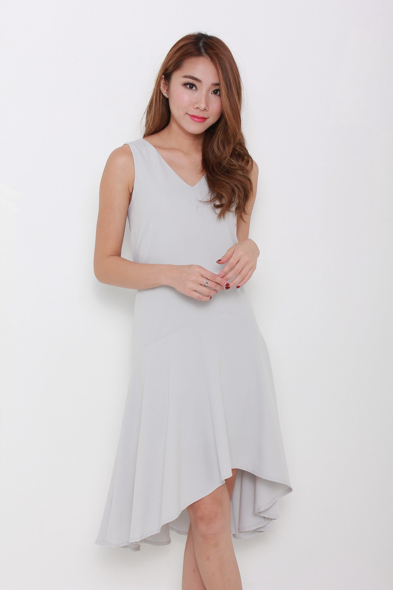 Drew Ays Drop Waist Dress in Grey
