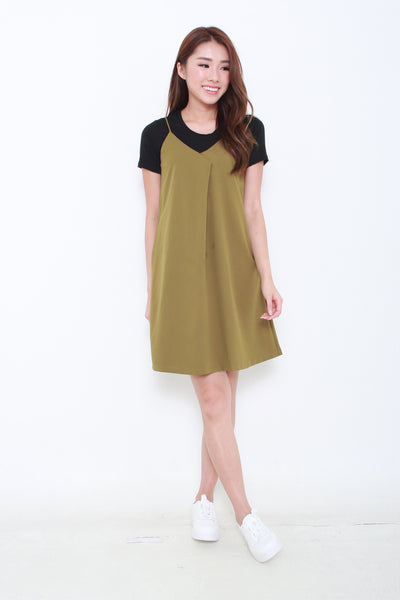 Brooklyn Slip Dress in Olive