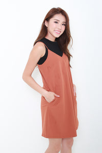 Brooklyn Slip Dress in Camel