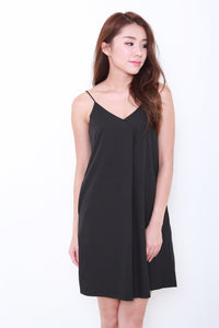 Brooklyn Slip Dress in Black