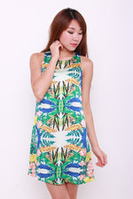 Load image into Gallery viewer, *RESTOCKS* Bambi Symmetrical Floral Shift Dress in Yellow