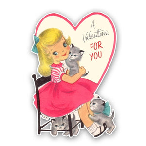 Vintage Girl Amy Valentine Die Cut - Pretty Little Studio