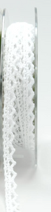 White 1/4 Inch Crochet Trim Ribbon