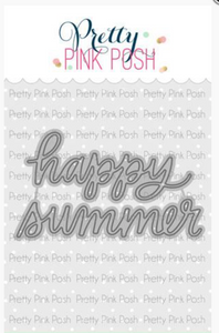 Happy Summer Script Die - Pretty Pink Posh