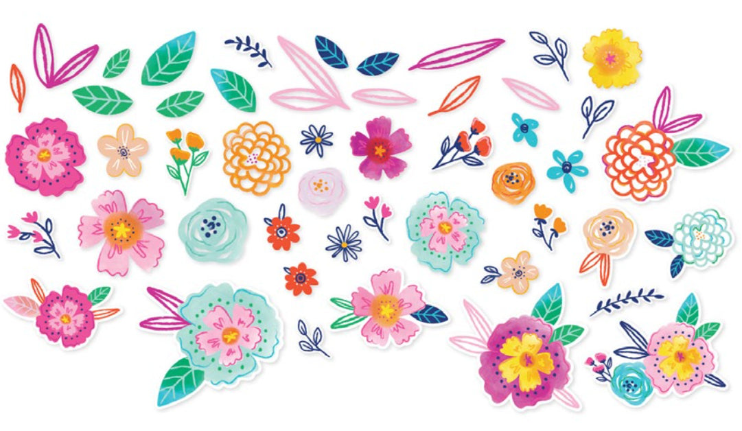 Go The Scenic Route Die Cut Floral Embellishments - Paige Evans, American Crafts