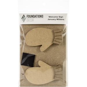 Foundations Decor Welcome Sign - January Mittens Kit