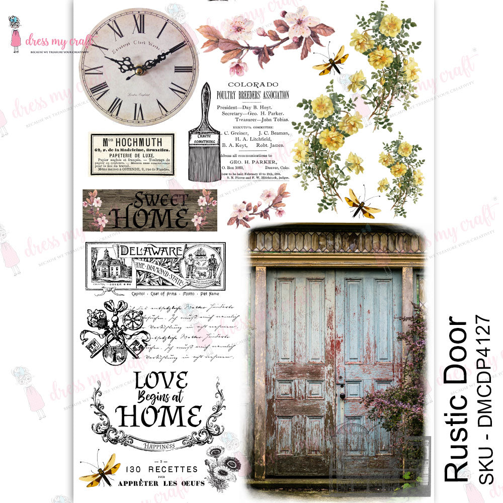 Transfer Me Sheet - Rustic Door - Dress My Craft