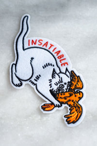 Stay Home Club Insatiable Cat Patch from Indie Edinburgh