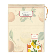 Load image into Gallery viewer, Cavallini Lemon 100% Cotton Apron available from Indie Edinburgh