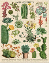 Load image into Gallery viewer, Cavallini Cacti & Succulents Vintage Puzzle from Indie Edinburgh