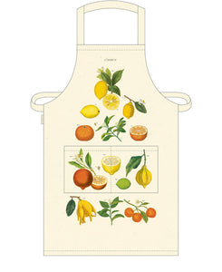 Cavallini Lemon 100% Cotton Apron available from Indie Edinburgh
