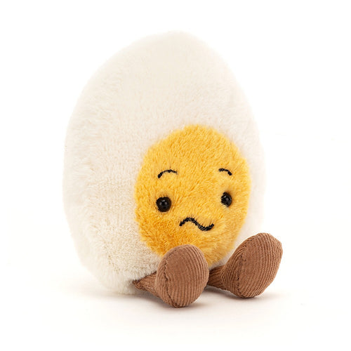 Jellycat Confused Boiled Egg available from Indie Edinburgh