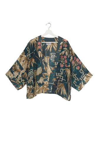 One Hundred Stars Teal Bamboo Kimono from Indie Edinburgh