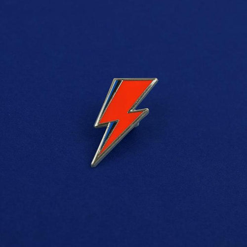 Bowie Lightning Pin available from Indie Edinburgh