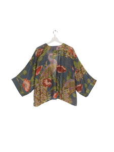One Hundred Stars Peacock and Poppies Kimono from Indie Edinburgh