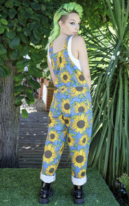 Run & Fly Cotton Twill Sunflower Dungarees from Indie Edinburgh