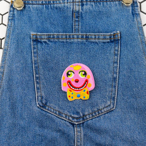 Mr Blobby Iron On Patch available from Indie Edinburgh