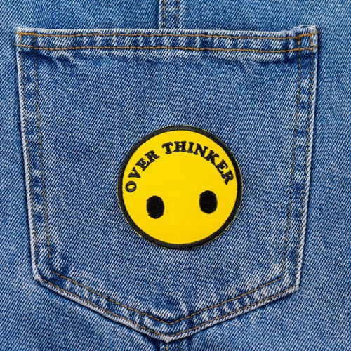Overthinker Iron On Patch available from Indie Edinburgh