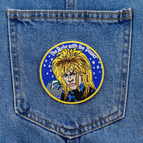 Labyrinth Jareth Iron On Patch available from Indie Edinburgh