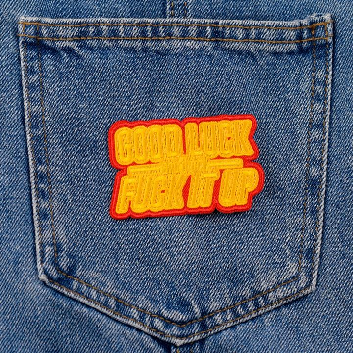Good Luck Iron On Patch available from Indie Edinburgh